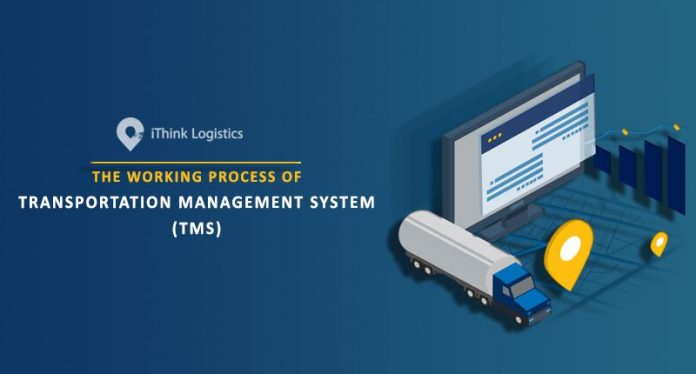 The working process of Transport Management System