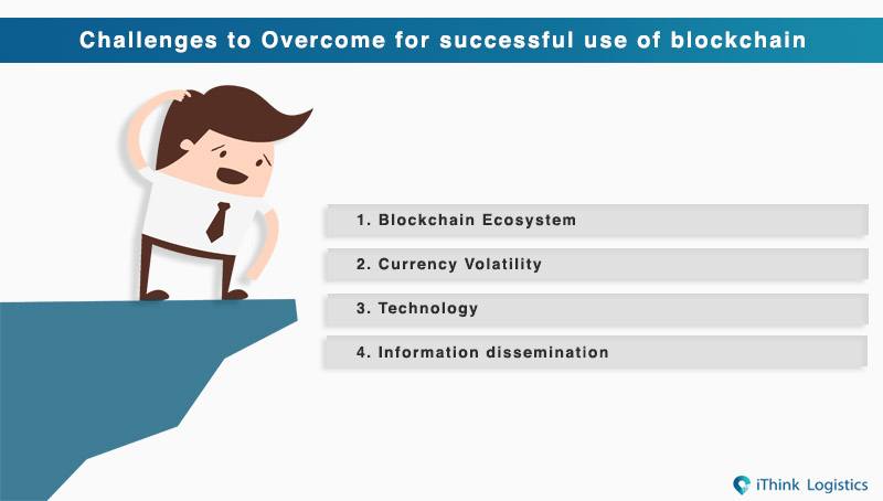 Challenges to Overcome for successful use of blockchain