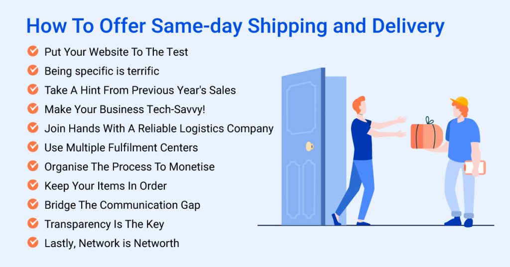 How To Offer Same-day Shipping and Delivery