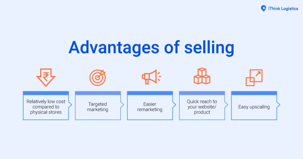 Advantages of selling online 1200 by 628 pixels
