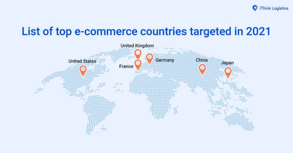 List of top e- commerce countries targeted in 20211200x628